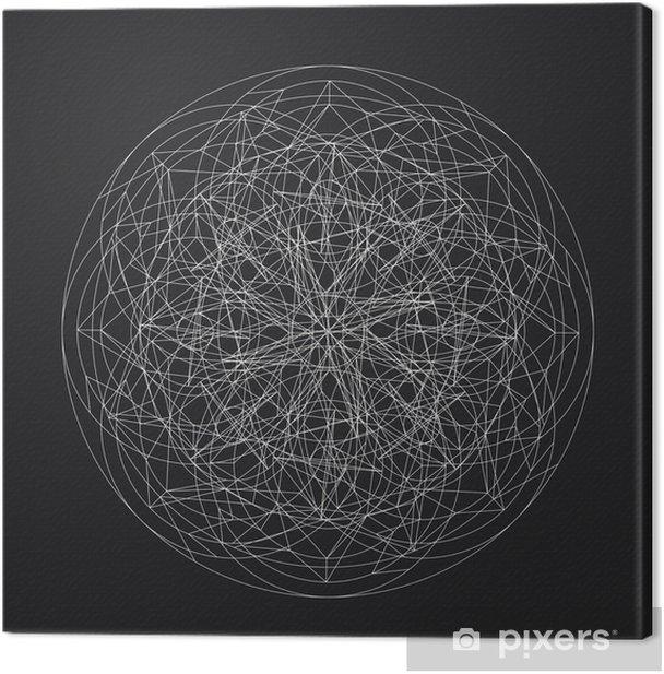 Cuadro en Lienzo Diseño geométrico pattern_vector_line element_star - Recursos gráficos