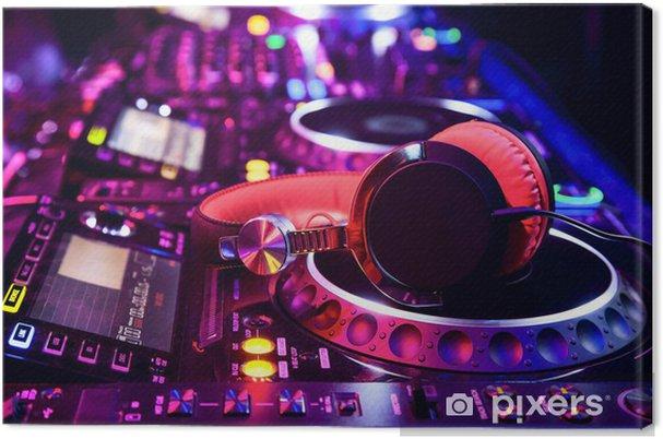 Cuadro en Lienzo Dj con auriculares -