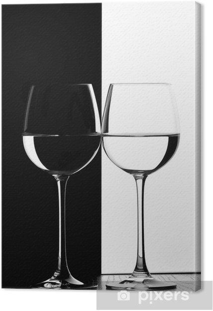 Cuadro en Lienzo Dos copas de vino - Vino