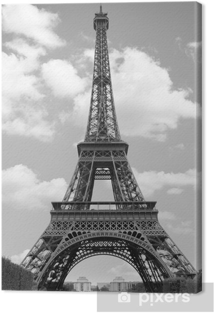 Cuadro en Lienzo Eiffel torre trofeos - Temas