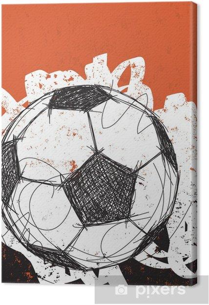 Cuadro en Lienzo El balón de fútbol de fondo - Deportes