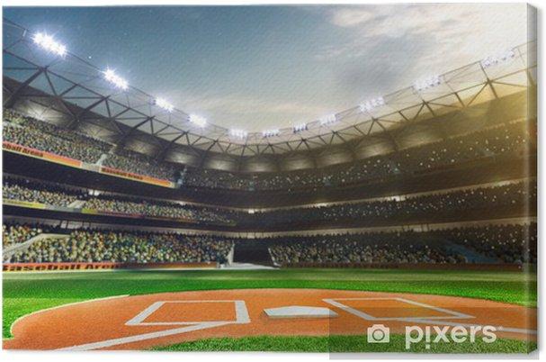 Cuadro en Lienzo El béisbol profesional Grand Arena en la luz del sol - iStaging