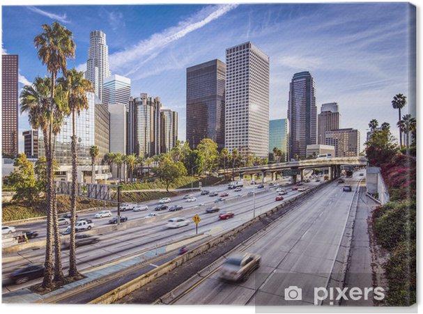 Cuadro en Lienzo El centro de Los Angeles, California Paisaje urbano - Palmeras