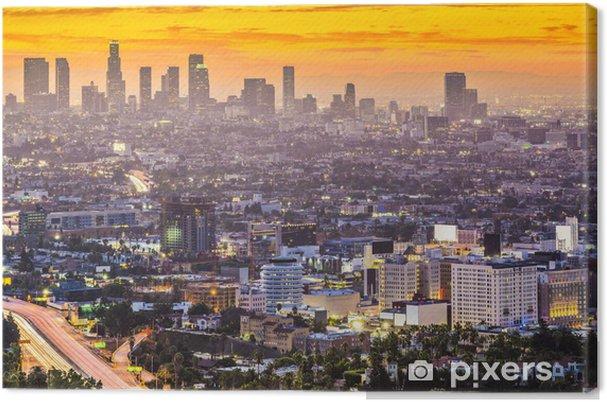 Cuadro en Lienzo El centro de Los Angeles, California Skyline - Temas