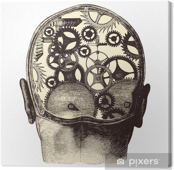 Cuadro en Lienzo El cerebro mecánico - Salud y medicina