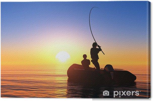 Cuadro en Lienzo El hombre en un barco - Deportes de exterior