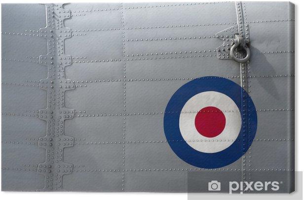 Cuadro en Lienzo El panel clavado en un avión militar británico de la vendimia - Temas