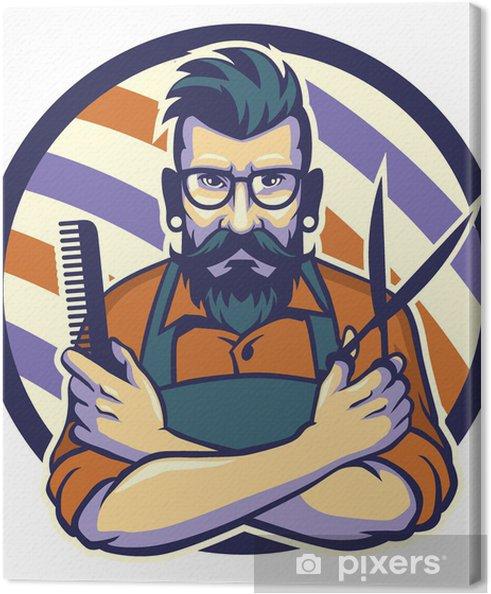 Cuadro en Lienzo El peluquero - Moda