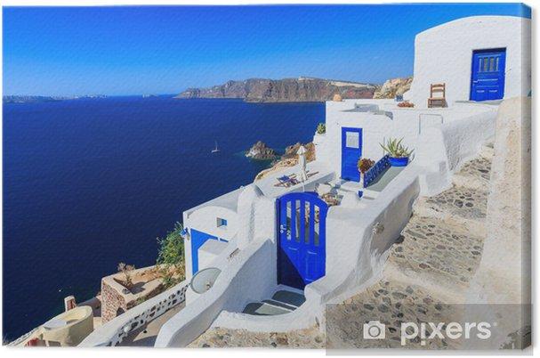 Cuadro en Lienzo El pueblo de Oia en Santorini, Grecia - Temas