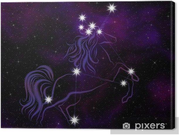 Cuadro en Lienzo El Unicornio (Monoceros) constelación. - Temas