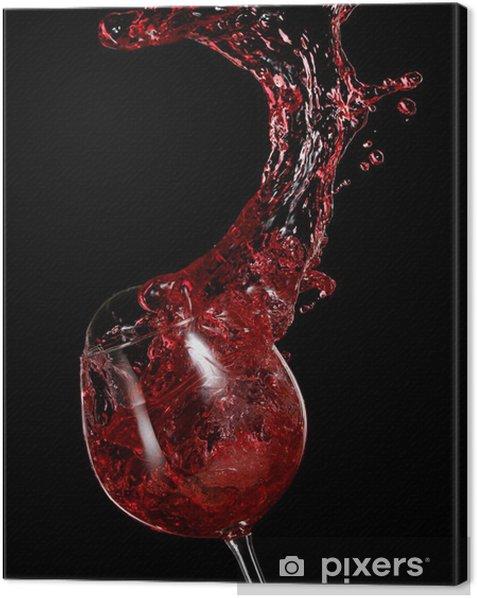 Cuadro en Lienzo El vino rojo con gotas - Alcohol