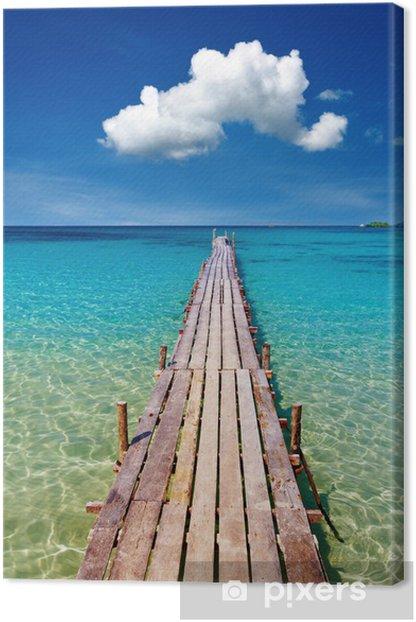 Cuadro en Lienzo Embarcadero de madera, isla de Kood, Tailandia - Temas