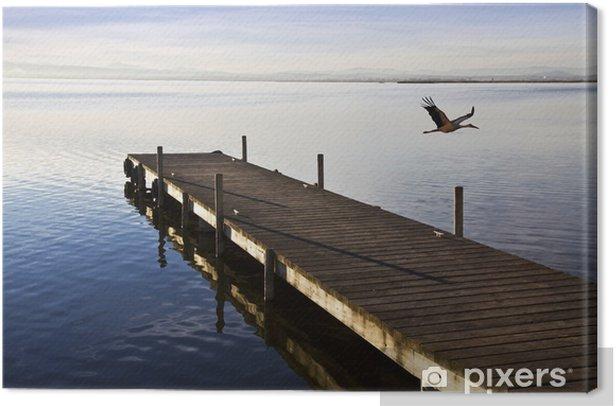 Cuadro en Lienzo Embarcadero de madera - Vacaciones