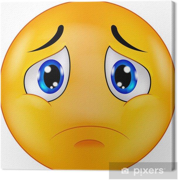 Cuadro en Lienzo Emoticon Smiley triste - Señales y símbolos