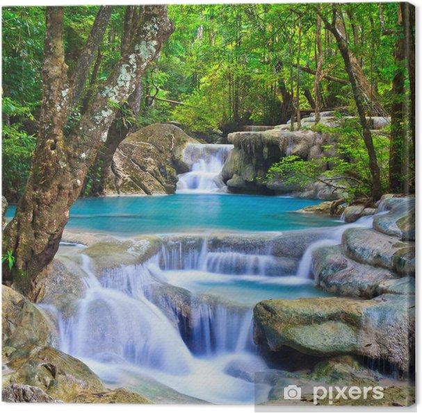 Cuadro en Lienzo Erawan cascada en la provincia de Kanchanaburi de Tailandia - Temas