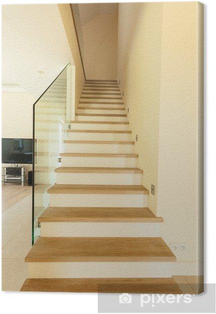 Cuadro En Lienzo Escaleras De Madera En Casa Pixers Vivimos - Cuadros-para-escaleras