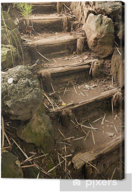 Cuadro en Lienzo Escaleras en el jardín japaneese Sankei y - Temas