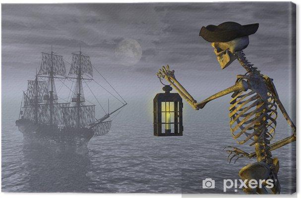 Cuadro en Lienzo Esqueleto del pirata con la nave del fantasma - Celebraciones internacionales