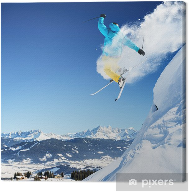 Cuadro en Lienzo Esquiador de salto - Temas