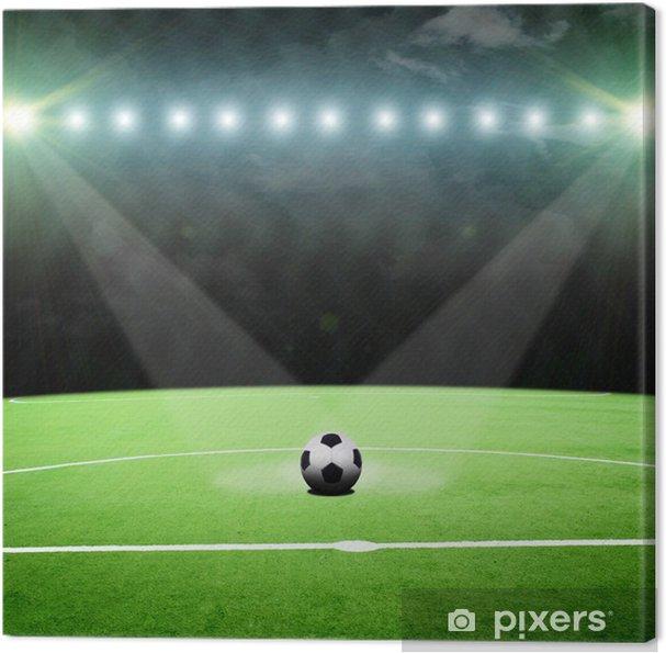 Cuadro en Lienzo Estadio de fútbol con las luces brillantes - Fondos