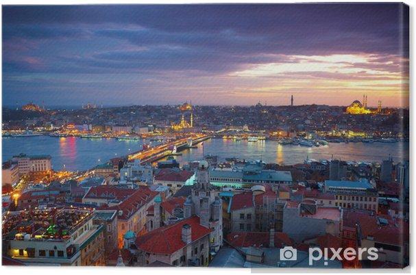 Cuadro en Lienzo Estambul Sunset Panorama - Temas