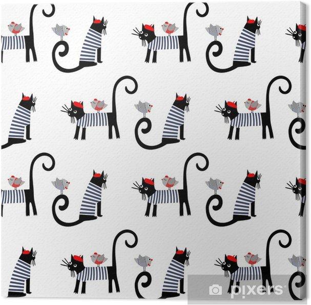 Cuadro en Lienzo Estilo francés de animales vestidos de patrones sin ...