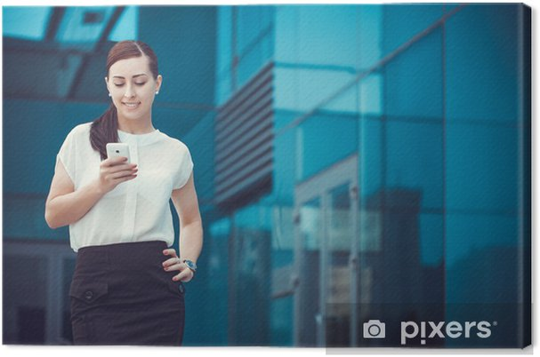 Cuadro en Lienzo Exitoso hombre de negocios hablando por celular. - Temas