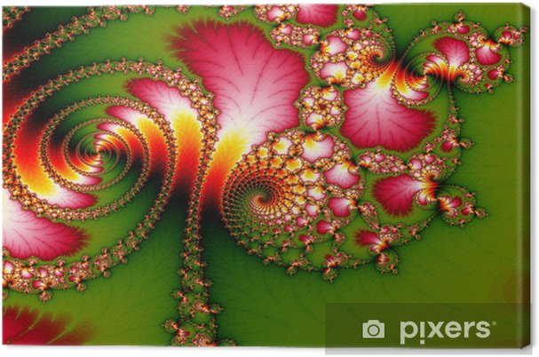 Cuadro en Lienzo Extracto floral de fondo - fractal - Abstractos