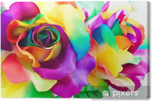 Cuadro en Lienzo Fake flor rosa -