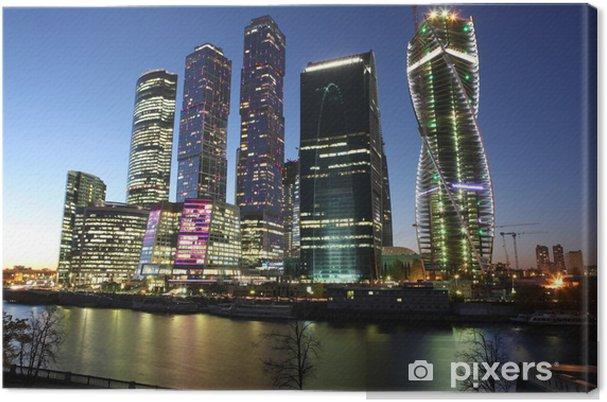 Cuadro En Lienzo Famoso Y Hermosa Vista Nocturna Ciudad De Los
