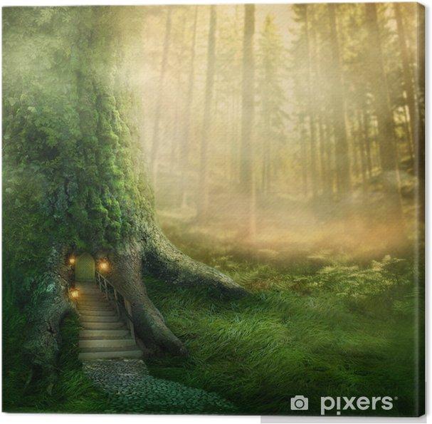 Cuadro en Lienzo Fantasía casa del árbol - Temas