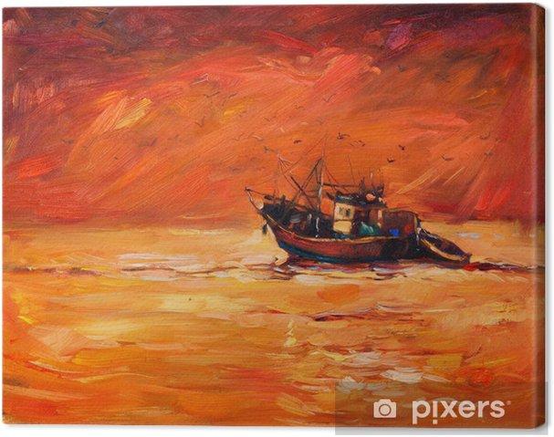 Cuadro en Lienzo Fishing boat - Artes y creación