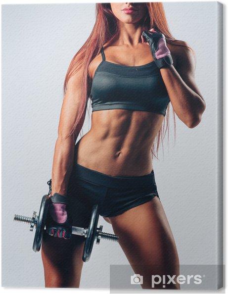 Cuadro en Lienzo Fitness mujer - Salud