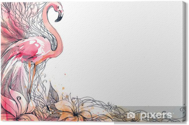 Cuadro en Lienzo Flamingo - Temas
