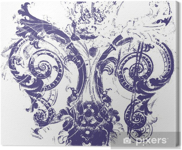 Cuadro en Lienzo Fleur de lis símbolo - Texturas