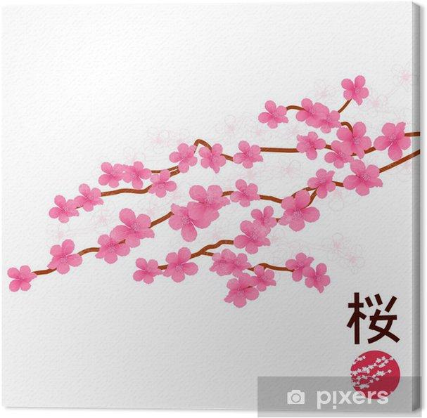 Cuadro en Lienzo Flor de cerezo japonés • Pixers® - Vivimos para cambiar