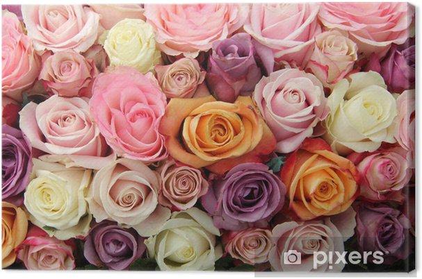Cuadro En Lienzo Flores De Novia En Tonos Pastel