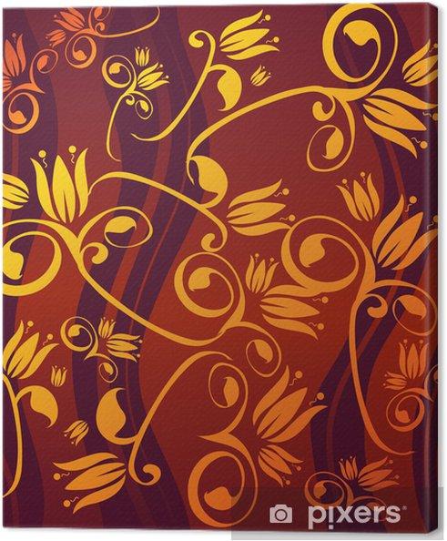 Cuadro en Lienzo Flores de oro - Señales y símbolos