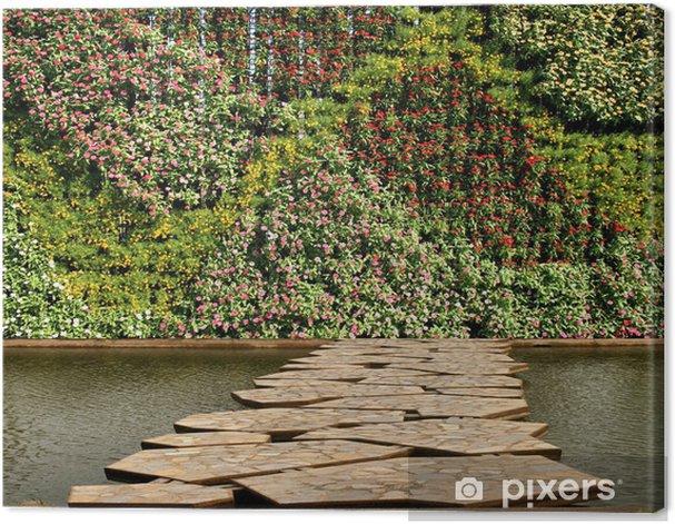 Cuadro en Lienzo Flores y plantas de pared jardín vertical - Urbano