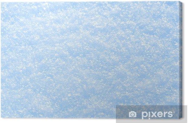 Cuadro en Lienzo Fondo azul de la nieve chispeante. - Estaciones
