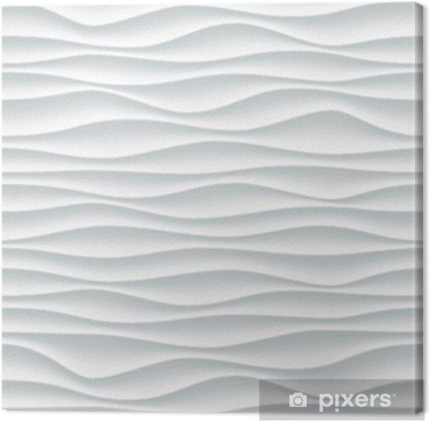Cuadro en Lienzo Fondo blanco del modelo de onda con textura ...