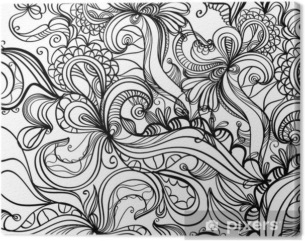 Cuadro en Lienzo Fondo de dibujo psicodélico Retro • Pixers ... bf518f5eaf3