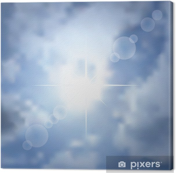 Cuadro en Lienzo Fondo de la estrella sol - Otras emociones