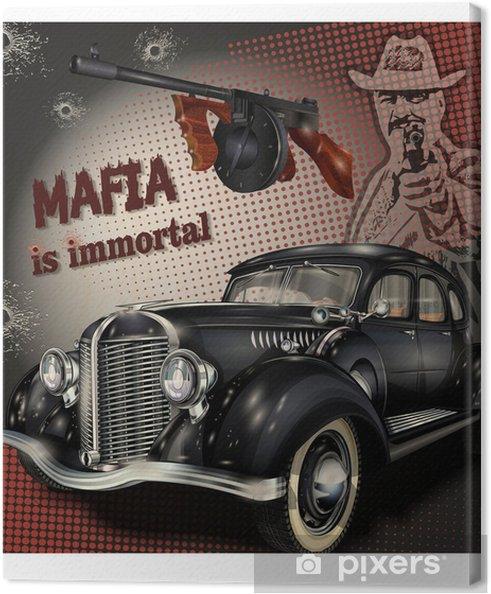 Cuadro en Lienzo Fondo de mafia o gángster - Estilo de vida