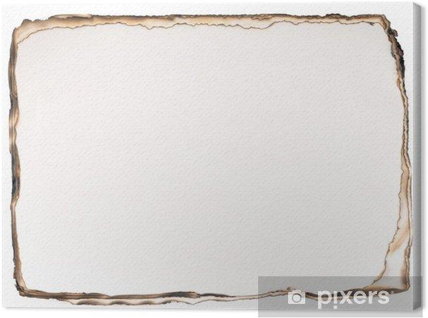 Cuadro en Lienzo Fondo de papel quemado aislado en el fondo blanco. - Ventas