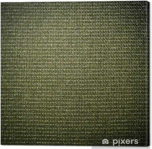Cuadro en Lienzo Fondo de tela verde - Texturas