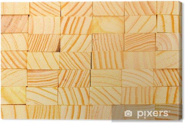 Cuadro en Lienzo Fondo del bloque de madera - Texturas