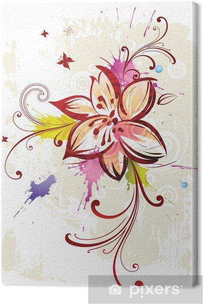 Cuadro en Lienzo Fondo floral abstracto - Flores