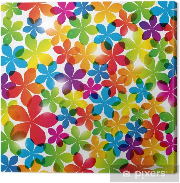 Cuadro en Lienzo Fondo floral del arco iris con las luces - Fondos