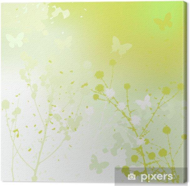 Cuadro en Lienzo Fondo floral, diente de león. Prado durante el verano. - Maravillas de la naturaleza